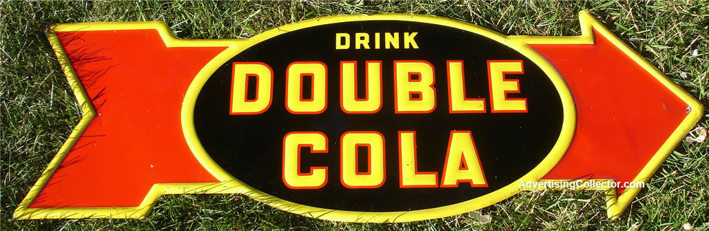 Original Double Cola Sign Arrow